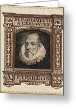 Miguel De Cervantes Greeting Card