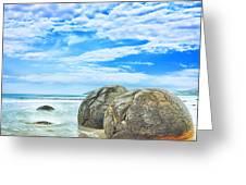 Moeraki Boulders Greeting Card