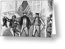 New York: Draft Riots, 1863 Greeting Card