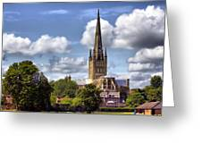 Norwich Cathedral Norfolk England Greeting Card