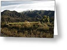 Ojai Valley With Snow Greeting Card