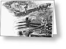Oregon Trail Emigrants Greeting Card