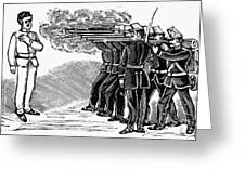Posada: Firing Squad Greeting Card