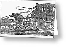 Stagecoach, 19th Century Greeting Card
