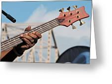 5-string Bass Greeting Card