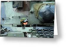 Tank Driver Of A Leopard 1a5 Mbt Greeting Card