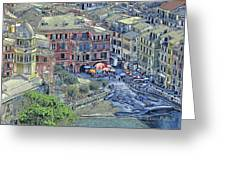 5 Terre Vernazza Landscape Greeting Card
