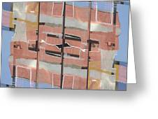 Urban Abstract San Diego Greeting Card by Carol Leigh