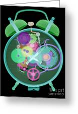 X-ray Of An Alarm Clock Greeting Card