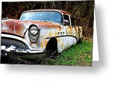 50's Cruiser Of The Past Greeting Card by Steve McKinzie