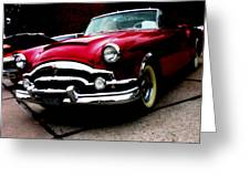 53 Packard Caribbean Convertible Coupe Greeting Card