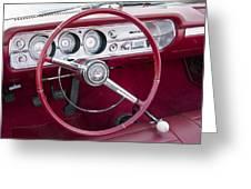 55 Chevy Ss Dash Greeting Card