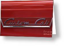 56 Ford F100 Custom Cab Greeting Card