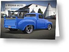 56 Studebaker At The Wigwam Motel Greeting Card