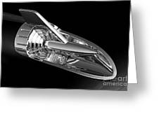 '57 Chevy Hood Chrome Greeting Card