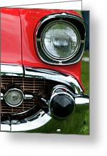 57 Chevy Left Front 8560 Greeting Card