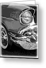 57 Chevy  Greeting Card by Steve McKinzie