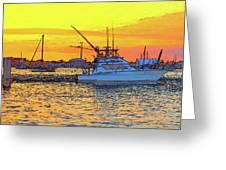 57- Sunset Cruise Greeting Card