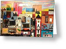 57th  Street Kaleidoscope Greeting Card