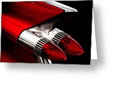 '59 Caddy Tailfin Greeting Card