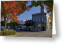 5th And G Street In Grants Pass With Text Greeting Card