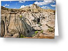 Badlands In Alberta Greeting Card by Elena Elisseeva