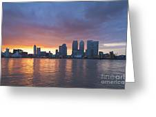 Canary Wharf In London Greeting Card