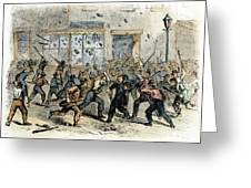 Civil War: Draft Riots Greeting Card