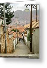 Cusco Peru Street Scenes Greeting Card