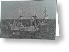 Fishing Boats Art Greeting Card