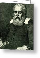 Galileo Galilei, Italian Polymath Greeting Card