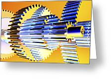 Gear Wheels, Artwork Greeting Card