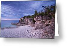 Georgian Bay Cliffs At Sunset Greeting Card