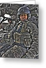 Hdr Image Of A Pilot Sitting Greeting Card