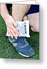 Injured Ankle Greeting Card