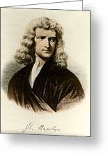 Isaac Newton, English Polymath Greeting Card