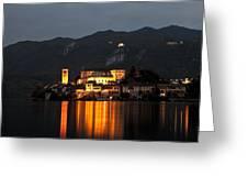 Island Of San Giulio Greeting Card by Joana Kruse