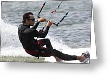 Kite Boarding Greeting Card