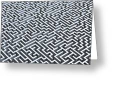 Maze, Artwork Greeting Card
