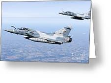 Mirage 2000c Of The French Air Force Greeting Card