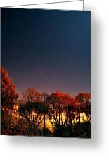 Night Sky Greeting Card by Laurent Laveder