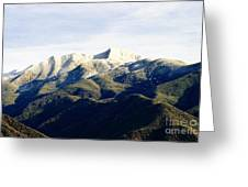 Ojai Valley With Snow Greeting Card