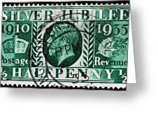 old British postage stamp Greeting Card