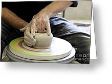 Pottery Wheel, Sequence Greeting Card