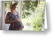 Pregnant Woman Greeting Card