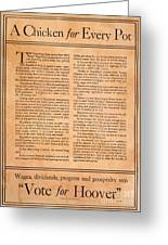 Presidential Campaign, 1928 Greeting Card
