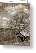 Rustic Hillside Barn Greeting Card
