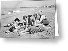 Silent Still: Bathers Greeting Card