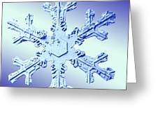 Snow Crystal Greeting Card