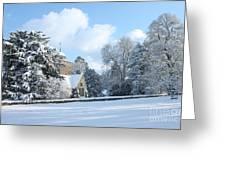 Snowy Scene In England Greeting Card